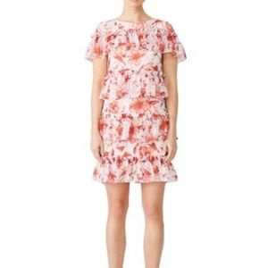 Badgley Mischka Tiered Ruffle Floral Dress size 2